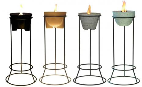 Powder-coated steel stand for all Waxburners Outdoor