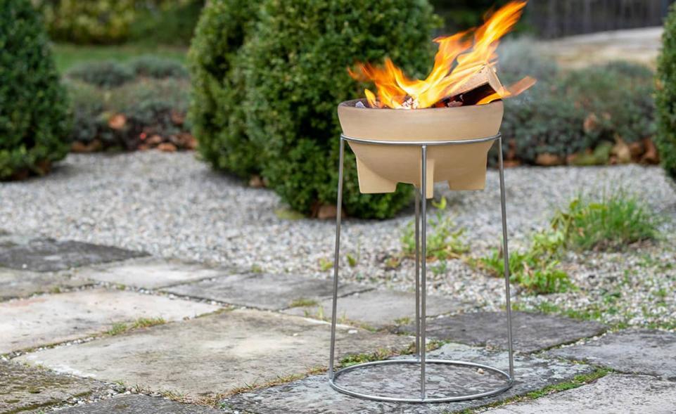 Set Feuerschale mit Ständer