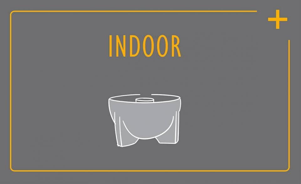 Komfort-Service für das Schmelzfeuer Indoor