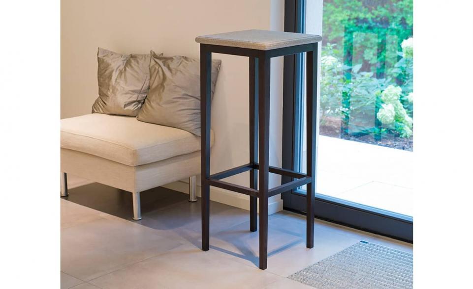 Tisch Granicium® Eiche wengefarben hoch