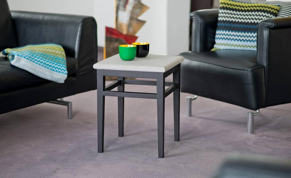 Tisch Granicium® Eiche wengefarben niedrig