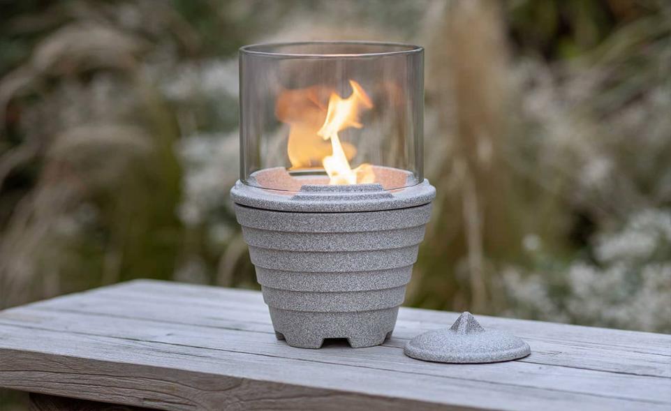 Outdoor Waxburner Granicium® with Glass Hood