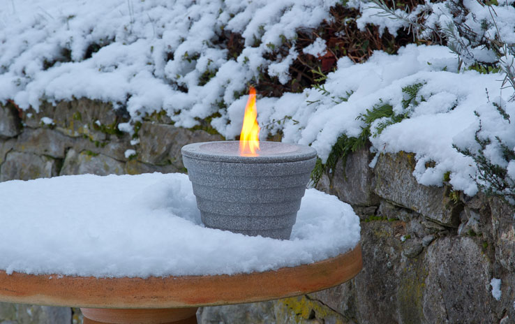 winterhaube schutzhaube f r das schmelzfeuer outdoor granicium denk. Black Bedroom Furniture Sets. Home Design Ideas